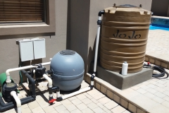 Pool backwash tank Milkwood-Cr