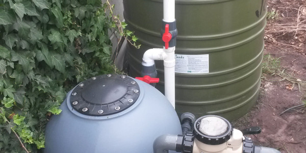 What to do with pool backwash water